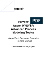 Aspen HYSYS Advanced Process Modeling EHY202