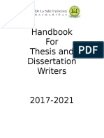 HANDBOOK FOR THESIS and DISSERTATION WRITERS  _REVISED 2017-2021