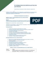 PROGRAMA DE FORMACION DE ESPECIALISTAS EN TABLEROS ELECTRICOS