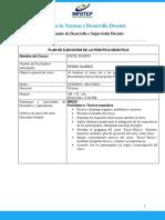 3. Plan de Ejecución de la Práctica Didáctica