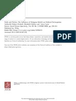 Religious beliefs on political participation