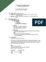 A lesson Plan in Mathematics 4
