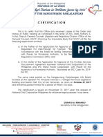 Certificate for Posting