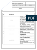 Business Process and Objective Template