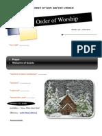 Order of Worship 12 05 2010 v1