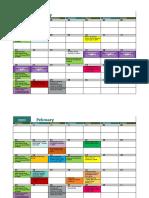 Activities Calendar 19-20 Jan 2020