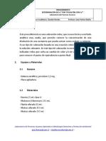 Determinacion de ferroso con cerio IV