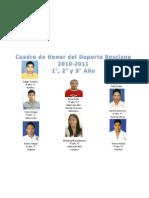 Cuadro de Honor 1° a 3°