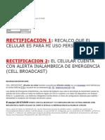 Informacion Importante de Subsanacion para el vuce mtc homologacion celular