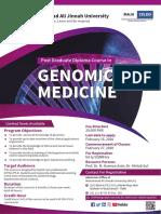 Genomic Medicine course Feb 2020 A4 Flyer