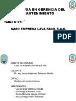 Ultimo Taller Presentación Curso gestion de Mant UNAC v5
