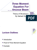 340979984 5 Three Moment Equation for Continuous Beam 1