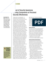 Impact of Security Awareness