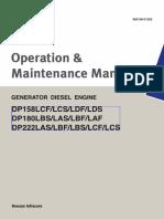 Operation & Maintenance Manual DG 625 kVA_DOOSAN DP180LB _DOOSAN DP158LD _DOOSAN DP222LE.pdf
