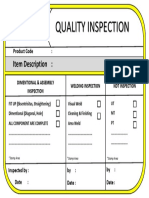 Quality Inspection Box