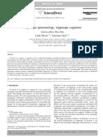 Stigmergic epistemology, stigmergic cognition