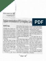 Manila Standard, Jan. 20, 2020, Explain termination of PSA Helpline Congress tells PSA.pdf