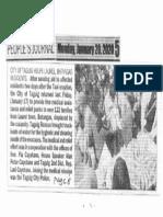 Peoples Journal, Jan. 20, 2020, City of Taguig helps Laurel Batangas residents.pdf