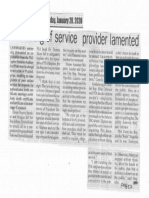 Peoples Journal, Jan. 20, 2020, PSA nixing of service provider lamented.pdf