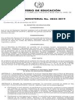 ACUERDO MINISTERIAL NO 3833 APROBACION CNB NIVEL PRIMARIO