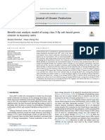 Benefit-cost analysis model of using class F fly ash-based green cement in masonry units