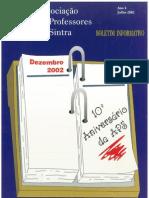 Boletim PROFSintra Julho de 2002