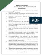 4. General Nots condictions  C.C Road W.D