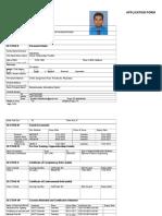 APPLICATION FORM 2nd Eng K.P.T.Dalpathadu