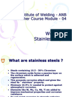 Module 04R-2 Welding of Stainless steels, CI and dissimilar