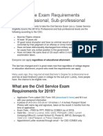 Tips  for Civil Service exam