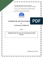 Support TP_Admin Rés Et Environnement Client Serveur