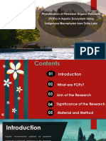 Phytofiltration of Persistent Organic Pollutants (POPs) in Aquatic Ecosystem Using  Indigenous Macrophytes from Taihu Lake