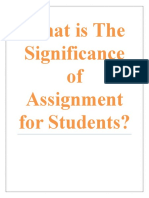 What is the Significance of Assignment for Students