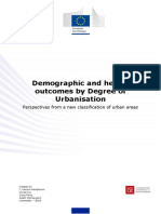 Demographic and health outcomes by degree of urbanisation