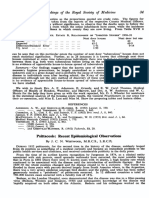 Psittacosis Recent Epidemiological Observations