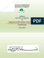 Presentation on Pat Feeder Canal Project