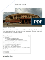 Delegated Legislation in India _ Analysis and Overview