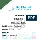 physics project file transformer