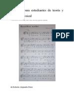 Modelos para estudiantes de Teoría y análisis musical II
