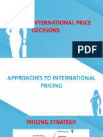 INTERNATIONAL PRICE DECISIONS