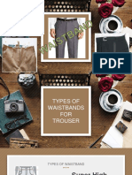 Types of Waistband Trouser