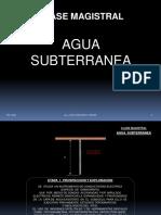 CLASE MAGISTRAL - AGUA SUBTERRANEA