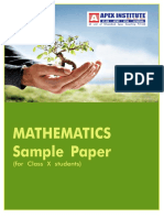 Mathematics Paper for class-X 2010