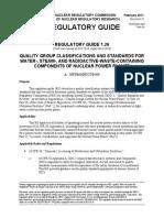 Regulatory Guide 1.26