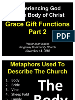 11-14-2010 Experiencing God in the Church-Grace Gift Functions - Part 2