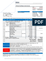 Invoice 1PCS Front Screen P1.8 1920X1080P  PROFORMA INVOICE  LT010920KNP1349