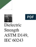 Dielectric Strength ASTM D149, IEC 60243 ........docx