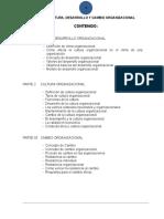 CLIMA, CULTURA, DESARROLLO Y CAMBIO ORGANIZACIONAL