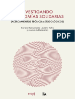 Enrique Santamaría, Laura C. Yufra y Juan de la Haba - Investigando Economías Solidarias (Acercamientos teóricos-metodológicos).pdf