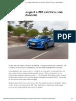 Peugeot e-208 eléctrico com 340 km de autonomia - Ensaio